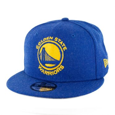 New Era 9Fifty Golden State Warriors Heather Crisp 3 Snapback Heather Royal Blue