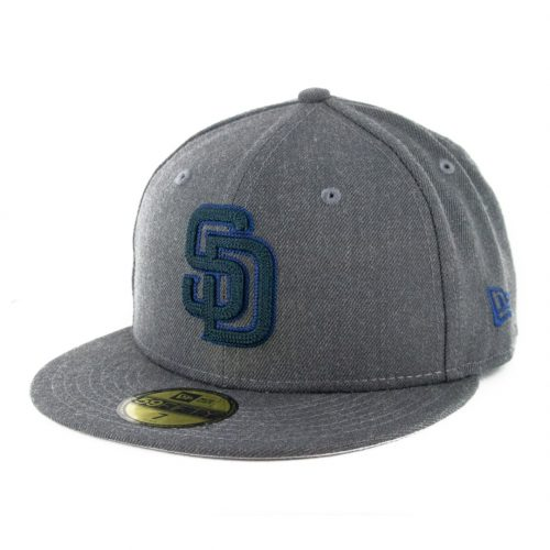 New Era 59Fifty San Diego Padres Heather Crisp 3 Fitted Hat Heather Graphite