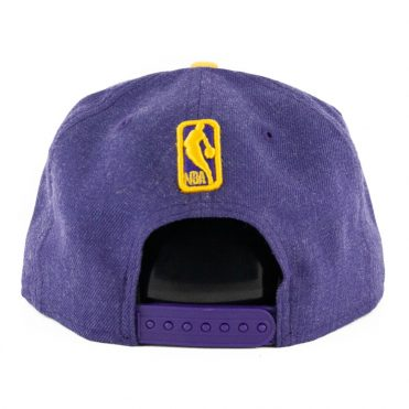 New Era 9Fifty Los Angeles Lakers Heather Snapback Hat Heather Purple