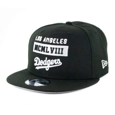 New Era 9Fifty Stack Los Angeles Dodgers Snapback Hat Black