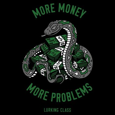 Sketchy Tank Money Problems T-Shirt Black