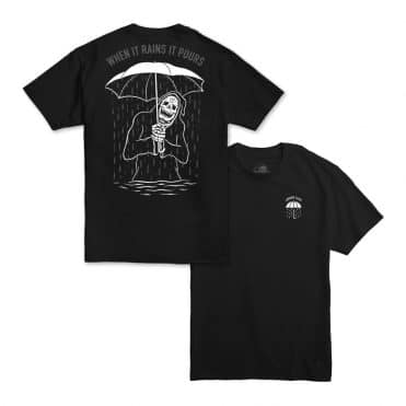 Sketchy Tank Rains It Pours T-Shirt Black