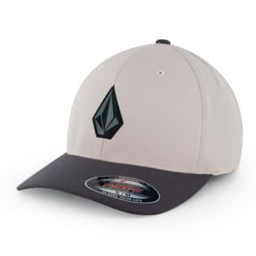 Volcom Stone Tech Xfit Flexfit Hat Almond
