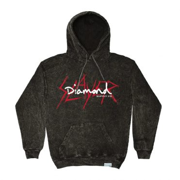 Diamond Supply X Slayer Pullover Hooded Sweatshirt Black