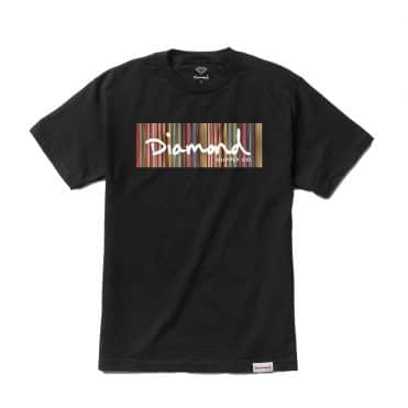 Diamond Supply Color Ply Box Logo T-Shirt Black
