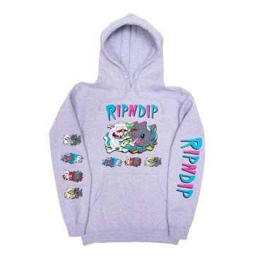 Rip N Dip Hash Bros Hooded Sweatshirt Heather Grey