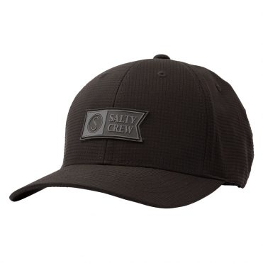 Salty Crew Alpha Tech 6 Panel Black