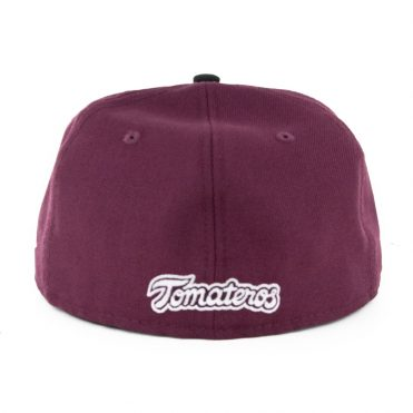 New Era 59Fifty Culiacan Tomateros Fitted Hat Two Tone Burgundy Black