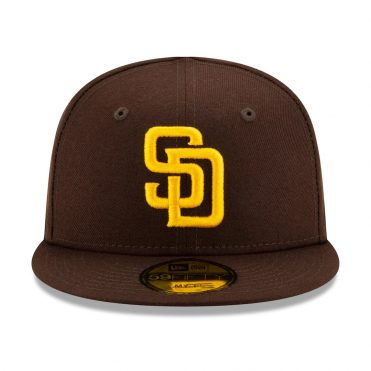 New Era 59Fifty My First San Diego Padres 2020 Game Fitted Hat Dark Brown