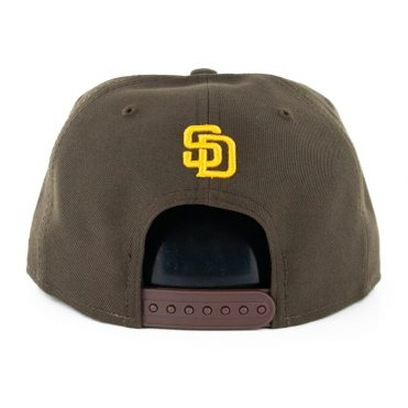 New Era 9Fifty San Diego Padres X Disney Hands Snapback Hat Dark Brown