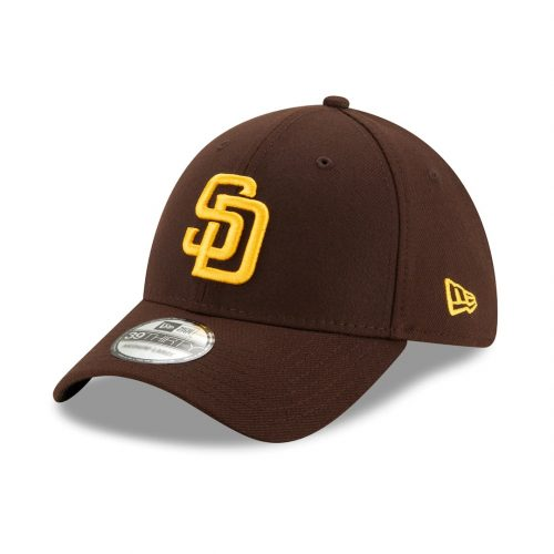 New Era 39Thirty San Diego Padres Youth 2020 Team Classic Stretch Fit Hat Dark Brown
