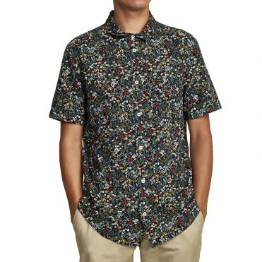 RVCA Costello Floral Button-Up T-Shirt