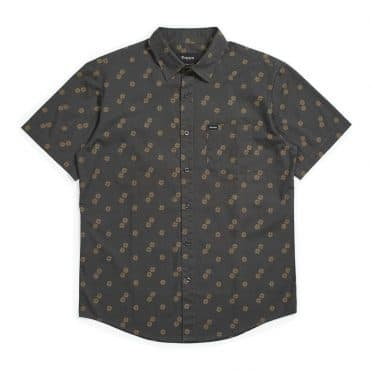 Brixton Charter Print Woven T-Shirt Washed Black Copper