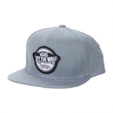 Vans Checker OTW Snapback Hat Heather Grey