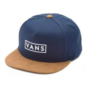 Vans Easy Box Snapback Hat Dress Blues Suede
